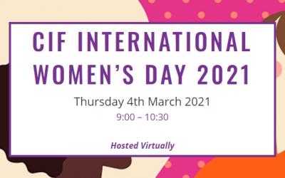 CIF International Women's Day 2021 event